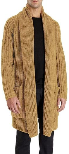 Cardigan Outfits, Long Cardigan, Long Sleeve Sweater, Sweater Cardigan, Men Sweater, Bomber Jacket Men, Men's Coats And Jackets, Knitted Shawls, Clothes