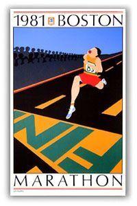 1981 Boston Marathon Poster Marathon Posters, Charity Run, Racing Events, Boston Marathon, Cultural Events, Event Organization, Work Inspiration, Typography Poster, The Past