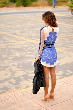 Royal Blue + Cream i love this dress!