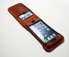 iPhone 5 case & card holder by mariamaten on Etsy
