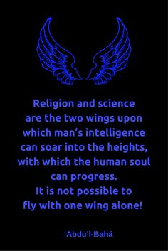 Religion and science are the two wings upon which man's intelligenc...