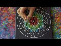 Flower of Life Sacred Geometry Dotillism Painting by Elspeth McLean - YouTube