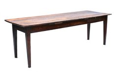 This is a fabulous 7ft long French farmhouse table. It is made from fruitwood and pine and has a single drawer. As you can clearly see from the pictures the overhang on the table is shorter on one side than the other – this is quite common in antique French tables as often the table would be butted up against a wall or made for a specific purpose. We really feel this only adds to the history and story of this table.