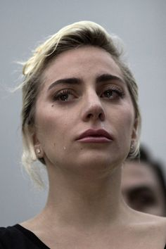 June 3, 2016 / Lady Gaga crying during her speech for the Orlando shooting victims.