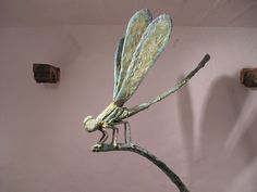 Dragonfly. Mediterranean #sculpture by Damian Ramis