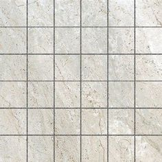 Style Selections Classico Travertine Taupe Glazed Porcelain Mosaic Square Floor Tile (Common: 12-in x 12-in; Actual: 11.81-in x 11.81-in)