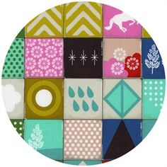 Melody Miller for Cotton and Steel, Playful, Memory Aqua