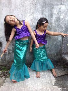 Little mermaid Girl Ariel costumes Ariel girl by Happy2sisters
