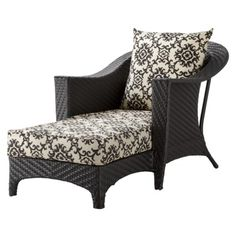 Fainting chair chaise on pinterest chaise lounges for Belmont black wicker patio chaise lounge