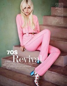 Top model Aline Weber stars in 70s Revival story captured for theDecember 2014 edition of Vogue China Collections by fashion photographer Matt Irwin. In charge of styling was Ondine