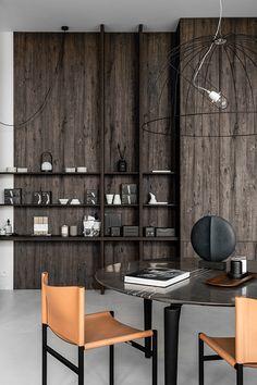 De Padova Gdańsk on Behance Behance, Luxury Interior, Interior Design, Christian Liaigre, Branding, Oak Park, Living Room Interior, Shelving, Architecture Design