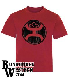 HOOEY BRANDS Roughy 2.0 RED Rodeo Cowboy Mens T-Shirt