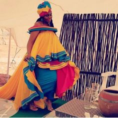 beautifully Pedi Wedding Dresses for 2020 African Wedding Attire, African Attire, African Wear, African Dress, African Clothes, African Theme, African Weddings, African Style, Sepedi Traditional Dresses