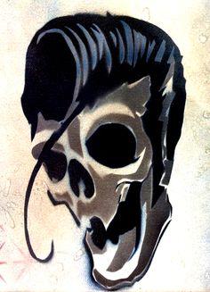 Cool Rockabilly Elvis Dude - Tattoo Flash