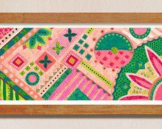 Modern illustration prints and wall art by VanessaFrancesStudio Modern Art, Contemporary Art, New Beginnings, Wall Art Decor, Abstract Art, Etsy Seller, Interior Decorating, Delicate, Kids Rugs