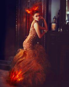 Famous Artist Miss Aniela Showcases Redhead Beauty @Melissa Henson Aniela