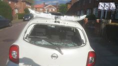 Nissan Micra Rear Screen Replacement - Before