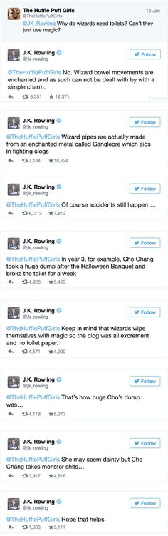 J.K. Rowling's Twitter Is Out of Control. I have no words for this