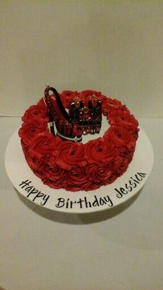 Red Roses Glamorous Birthday Cake