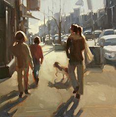 Sarah Kidner - Dog Walk- Oil - Painting entry - November 2012 | BoldBrush Painting Competition