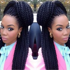 Senegalese Twist Hairstyles - How To Do, Hair Type, Pictures My Hairstyle, Twist Hairstyles, African Hairstyles, Cute Hairstyles, Wedding Hairstyles, Twist Styles, Braid Styles, Crochet Braids, Twisted Hair