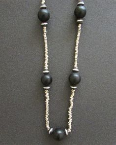 Onyx African Long Necklace Boho Women Jewelry by BlueMargarita
