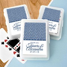 Monaco Blue Personalised Deck of Cards Favours $4.60 - $3.45