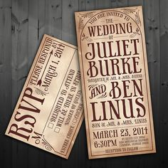 Printable Rustic Wedding Invitation & RSVP by FancyBeastDesigns, $35.00