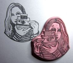 the lovely Kozue made a stamp for me (it's for my book signings :) http://www.etsy.com/people/Kozue