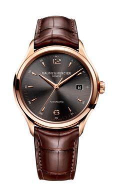 Clifton 10059 Automatik Rotgold-Uhr für Herren - Baume & Mercier