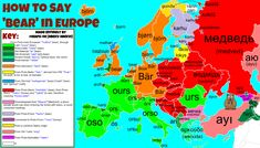 How To Say 'bear' in Europe with etymolog