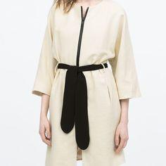 kimono coat. Brand new, kimono sleeved belted coat. lined              details 70% cotton, 30% viscose Zara Jackets & Coats