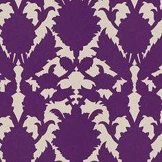 EdytaDesigns: Fabrics - Purple damask for dining room chairs!