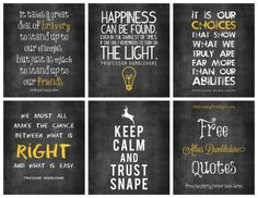 FREE Albus Dumbledore quotes - Harry Potter Style ... just in time for Halloween.