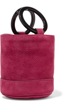 SIMON MILLER 红莓色牛巴革(小牛皮)  开放式包口  品牌特定颜色:Ruby Pink  附防尘袋  重量约为 0.4 千克  意大利制造