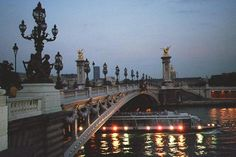 Picture I took in 1999 when I traveled to Paris, France with my wife. This is the Alexander III Bridge over the Seine River in Paris.