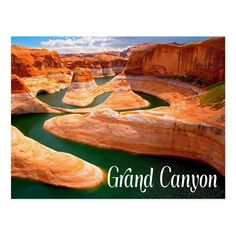 Shop Grand Canyon, Arizona, USA Postcard created by merrydestinations. Grand Canyon Hotels, Grand Canyon Vacation, Grand Canyon Arizona, State Of Arizona, Arizona Usa, Grand Canyon National Park, National Parks, Glen Canyon, Colorado River