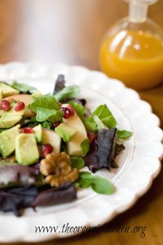 Apple and Avocado Salad with Tangerine Dressing | The Organic Kitchen Blog and Tutorials