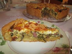 Quiche Recipes, Greek Recipes, Tart, Brunch, Food And Drink, Cooking, Breakfast, Kitchen