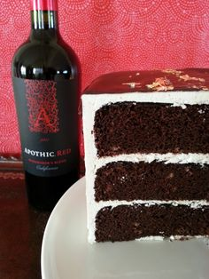 Apothic Red Velvet Cake, my favorite wine in a dessert, hmmm this has to be good!