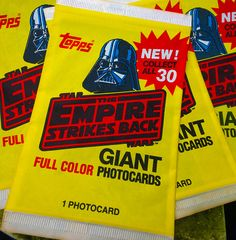 Tops Giant Photocards.  Star Wars / Empire Strikes Back.  Love the yellow wrapper.