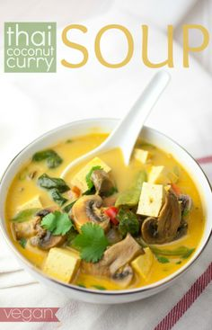 Produce On Parade - Thai Coconut Curry Soup   @Produce On Parade  #eatcleanpinparty