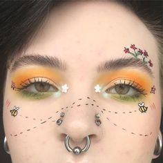 Spring, fun, bees, yellow, green