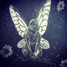 White on black fairy