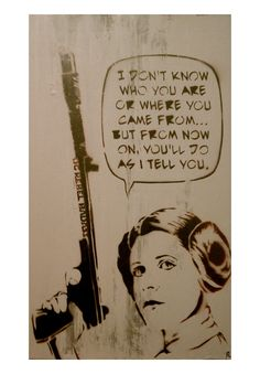 STAR WARS ART Princess Leia Original Painting Original Rebel Badass With Sass Original Star Wars Artwork. $45.00, via Etsy.