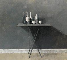 William Brooker (British, 1918-1983),Grey Still Life 1, 1969. Oil on canvas, 36 x 40 in. (91.4 x 101.6cm.)