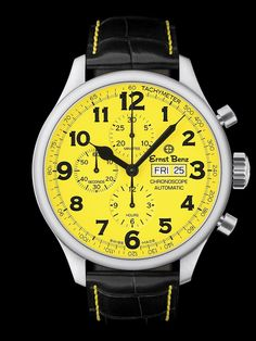 Ernst Benz Chronoscope Chronograph Watch with Yellow Face at London Jewelers!