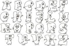 Tipos de letras abecedario bonitas para imprimir - Imagui