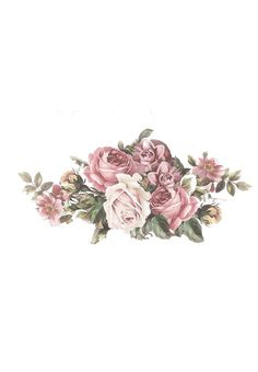 This would make a gorgeous tattoo Bg Design, Flower Bird, Flower Frame, Floral Drawing, Floral Artwork, Decoupage Paper, Decoupage Vintage, Flower Clipart, Rose Art