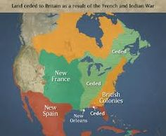 Land ceded to Great Britain as a result to the French and Indian War (1763).   http://thehistorytavern.blogspot.com/p/journey-to-liberty.html?m=1